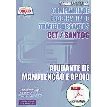 Apostila Digital Concurso CET Santos 2015 - Ajudante de Manutenção e Apoio