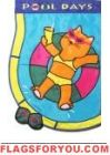 Pool Cat Applique Garden Flag Cat Applique, Cat Garden, House Flags, Garden Flags, Flip Flops, Cats, Decor, Gatos, Decoration
