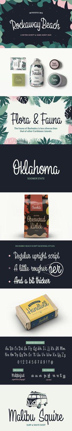 Rockaway Beach - Upright Script font by Great Scott on @creativemarket