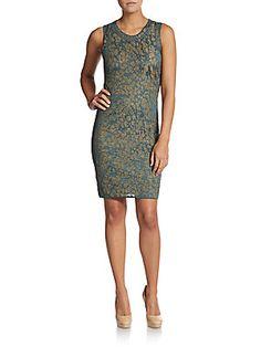 Lurex Two-Tone Dress