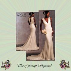 Sleeveless V-Neck Bridal Gown with Train Vogue by TheGrannySquared
