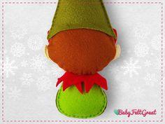 Patrones PDF Digital DIY Duende adornos fieltro Navidad