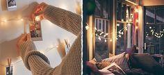25 τέλειες ιδέες διακόσμησης με φωτάκια  #Διακόσμηση Curtains, Mirror, Furniture, Home Decor, Blinds, Interior Design, Draping, Home Interior Design, Window Scarf