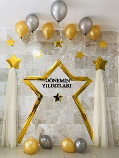 50th Birthday Balloons, Happy Birthday, Party Background, Science For Kids, Ramadan, Diy And Crafts, Backdrops, Classroom, Ceiling Lights