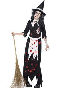Zombie Salem Witch Womens Costume