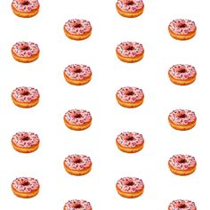 pink icing with sprinkles donut fabric by tiffany_r on Spoonflower - custom fabric