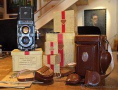 Cámara fotográfica Rolleiflex con su equipo completo / Cámaras antiguas en todocoleccion