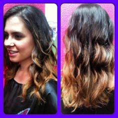 Gorgeous ombre by Sabrina from our Fossil Creek Location #SalonPurple
