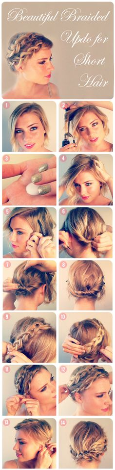How to make Beautiful Braided Updo for Short Hair