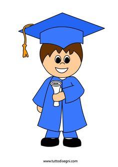 Fine anno scolastico – Bambino con diploma