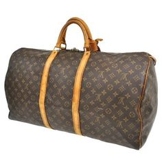 Louis Vuitton Keepall 60 Monogram Canvas Leather Brown Travel Bag. Save 70% on the Louis Vuitton Keepall 60 Monogram Canvas Leather Brown Travel Bag! This travel bag is a top 10 member favorite on Tradesy. See how much you can save