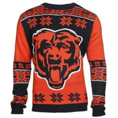 Chicago Bears Big Logo Crew Neck Ugly Sweater