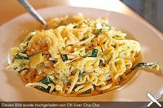 Die berühmten Zucchini-Frischkäse-Nudeln
