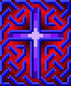 This amazing photo is the most inspirational and splendid idea Celtic Patterns, Cross Patterns, Quilt Block Patterns, Pattern Blocks, Church Banners Designs, Minecraft Banner Designs, Minecraft Banners, Barn Quilts, 3d Quilts