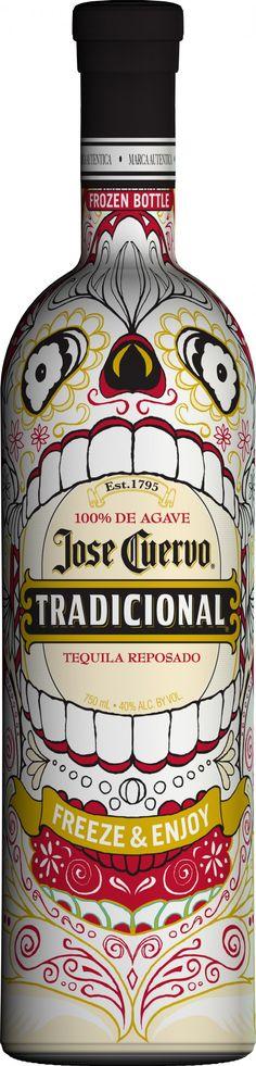 Jose Cuervo halloween bottle