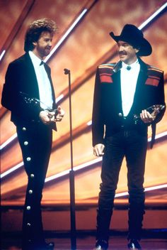 """Brooks & Dunn won the first of 14 CMA Vocal Duo of the Year awards at """"The 27th Annual CMA Awards"""" (9/29/1993)."""
