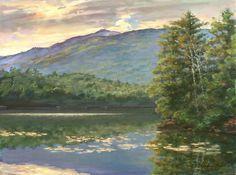 Monadnock Vista at Thorndike Pond Painting  - Monadnock Vista at Thorndike Pond Fine Art Print