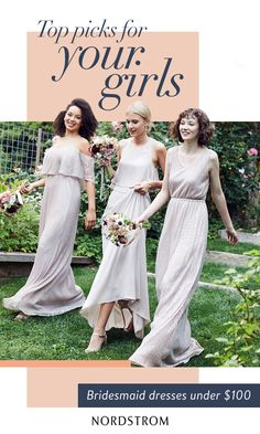 Discover stunning bridesmaid dresses that are beautifully within budget. Mix-and-match styles to create a unique look or find the perfect one for all your girls. Whatever your wedding day style, find the dresses you've been dreaming of at Nordstrom.