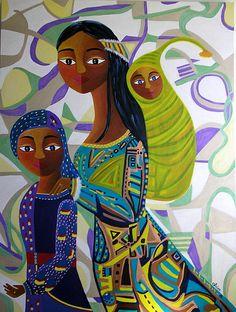 """""""Les enfants de Gaïa"""" by irisepainting.ca"""