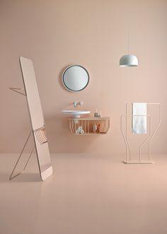 Bagno in rosa e dettagli raffinati. Pink bathroom and refined details. Styling: @odosdesign for @inbani http://inbani.com/en/ #vemrosa