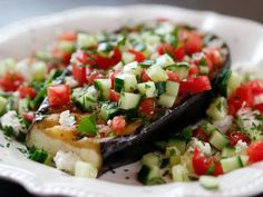 Get Greek Grilled Eggplant Steaks Recipe from Food Network