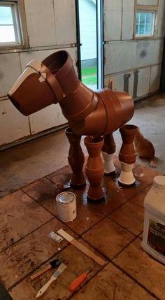 Clay pot horses!!!