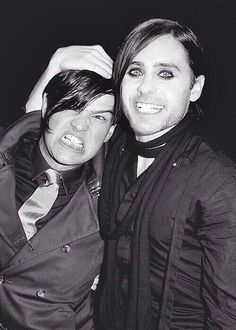 Tomo Milicevic and Jared Leto