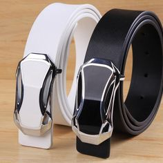 Buy Men's Belt Male strap brushed buckle men artificial leather male belt casual fashion at Wish - Shopping Made Fun Luxury Belts, Branded Belts, Artificial Leather, Waist Belts, Men's Belts, Black And Brown, High Fashion, Branding Design, Casual