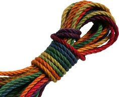 Rainbow jute rope for rope bondage