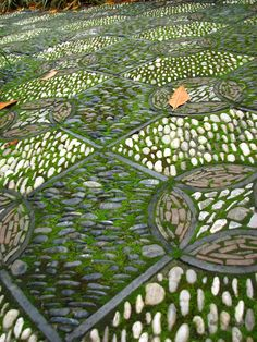 moss and pebble walkway at the Portland Chinese Gardens | I like the idea, but would need to modify it a bit