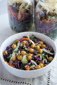 Mason Jar Kale Salad Recipe -- a cute, nutritious, and portable healthy lunch!