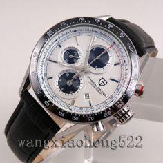 Pagani Design Brief White Dial Date Full Chronograph Men's Quartz Watch N042 | eBay