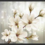 Si su estilo es más sencillo y elegante, este es el fotomural adecuado para usted, donde predominan los colores cálidos, la foto muestra flores abiertas y o