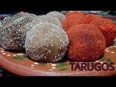 COMO HACER TARUGOS/DULCES MEXICANOS/LAS RECETAS DE LUPITA - YouTube Mexican Cookies, Mexican Snacks, Mexican Candy, Mexican Food Recipes, Mexican Christmas, Mexico Food, Tasty, Yummy Food, Pan Dulce