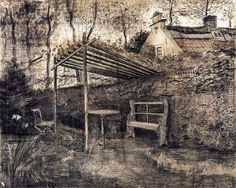 The Garden of the Parsonage with Arbor Vincent Van Gogh Reproduction | 1st Art Gallery