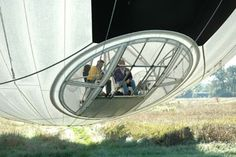 The cockpit of the spherical airship. Flying Car, Aircraft Design, Retro Futurism, Dieselpunk, Led Zeppelin, Sailboat, Transportation, Aviation, Ship
