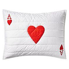 Wonderland Ace of Hearts Sham