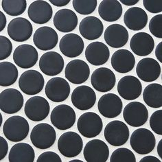 Merola Tile Hudson Penny Round Matte Black 12 in. x 5 mm Porcelain Mosaic Tile sq. / - The Home Depot Penny Round Tiles, Penny Tile, Penny 1, Mosaic Tiles, Wall Tiles, Tile Projects, Outdoor Flooring, Wall Installation, Shower Floor