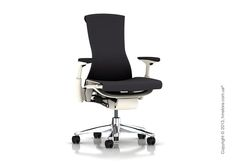 Идеальное кресло для руководителя от компании Herman Miller – Embody Chair. Оно имеет как презентабельный вид, так и богатый функционал. Ткань Баланс пропускает воздух, чем позволяет вашей коже дышать. George Nelson, Barber Chair, Color Balance, Design Within Reach, Calacatta, Herman Miller, Chair Design, Modern Furniture, Modern Design
