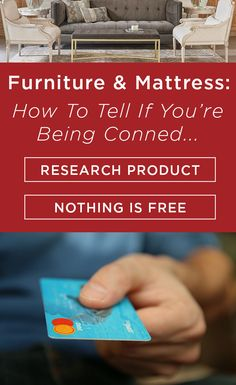 Buying new furniture and mattresses can be overwhelming with all of the different options that are available today. Here are tips to make sure you're not being conned when you're in the market for a new mattress or furniture. #BlogGAHS