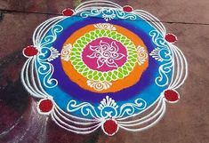 Here are some rangoli photo and designs for every occasion. Make these rangoli designs during festivals like Diwali, Dussehra, Sankranti, Holi or New Year. Easy Rangoli Designs Diwali, Rangoli Designs Flower, Free Hand Rangoli Design, Rangoli Ideas, Diwali Rangoli, Beautiful Rangoli Designs, Simple Rangoli, Mehndi Designs, Rangoli Photos