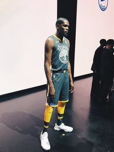 Golden State Warriors Kevin Durant wears one of the new league jerseys  representing a new partnership between Nike and the NBA on September 15 753e4b488