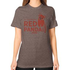 Red Panda Day Unisex T-Shirt (on woman)