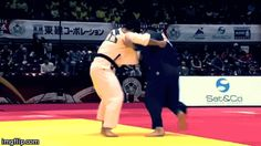 What a slick counter to Kosoto-gake! It's seems like a Sumi-otoshi, a very rare and difficult throw to do and see in competition. All the throwing action is performed by the arms… what do you think?