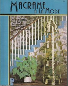 Macrame A La Mode Vintage Pattern Instruction Book New Hammock Mirror Baskets | eBay