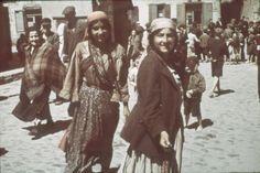 Lublin, Poland, Gypsy women in a ghetto street.