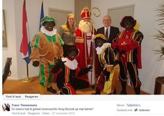 While in Nov. '13 emotions run high in the with hatred infested debate on the undoiubtedly racist character of 'black face', the Minister of Foreign Affairs of the Netherlands Frans Timmermans finds it necessary to demonstratively show he surely is a racist asshole.