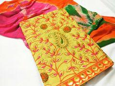 Cotton top with kashmiri work | Buy online dressmeterials at low prices | Elegant Fashion Wear