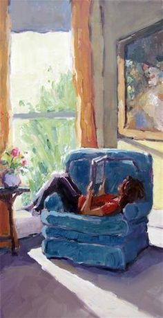 Quiet Time in Favorite Chair - Gina Brown