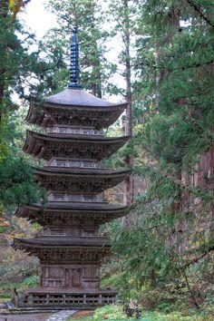 Five-story Pagoda of Mt.Haguro at YAMAGATA JAPAN.